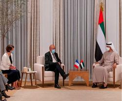 Abu Dhabi Crown Prince Receives French Defense, Foreign Ministers