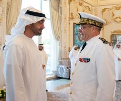 Abu Dhabi Crown Prince Receives French Navy Chief