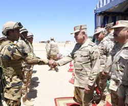Egypt's Chief-of-Staff Attends Main Phase of 'Al-Fateh-2021' Training
