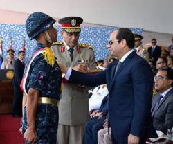 Egyptian President Witnesses Graduation Ceremony of Army Officers