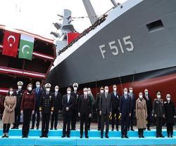 Erdogan Launches Third Corvette to be Built for Pakistan Navy