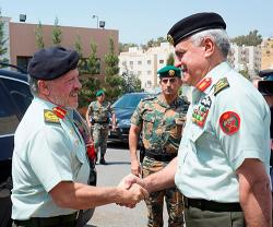 Jordanian King Visits Armed Forces General Command