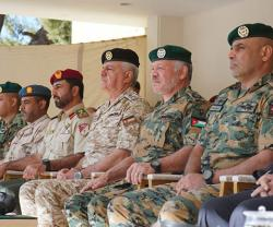 Jordanian King Attends Military Drill for Royal Guard Command