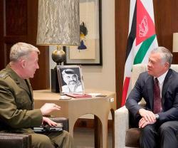 Jordanian King Receives Commander of US Central Command