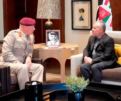Jordanian King Receives UK Defense Senior Adviser to Middle East