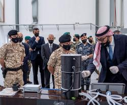 Jordanian King Visits KADDB, Royal Air Force Command