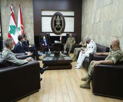 Lebanese Army Commander Receives French Armed Forces Minister