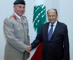 Lebanese President Receives UK's Chief of Defense Staff