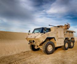 UAE's NIMR Automotive Debuts Latest MRAP at IDEX