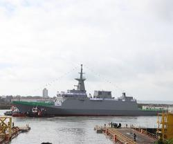 Navantia San Fernando Launches Second Corvette for Saudi Arabia