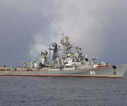Russian Warships Conduct Anti-Sub Drills in Mediterranean