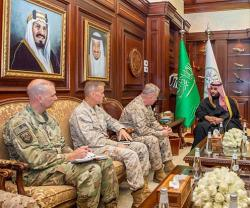 Saudi Deputy Minister of Defense Receives U.S., Pakistani Military Officials