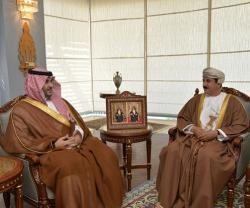 Sultan of Oman Receives Saudi Deputy Defense Minister