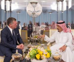 Saudi King Receives Jordanian King