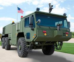 USMC's New Oshkosh Firefighting Vehicle at Marine South