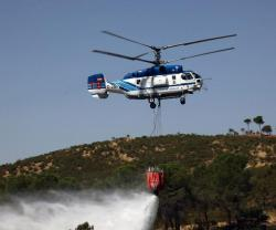 Russian Helicopters' Fire-Fighting Helicopter at Helitech Int'l