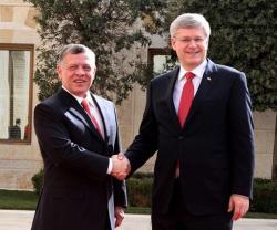 Jordan's King, Canada's PM Discuss Regional Threats