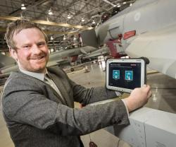 Tablet Technology to Maintain Fast Jet Typhoon Aircrafts