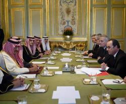 Saudi Crown Prince Meets French President, Defense Minister