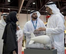 Mohamed bin Zayed Tours Abu Dhabi Aviation & Aerospace Week