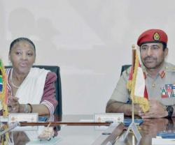 South African Minister of Defense Concludes Visit to Oman