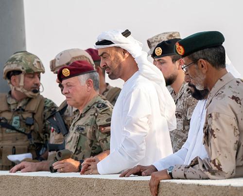Abu Dhabi Crown Prince, Jordanian King Attend Joint Military Drill