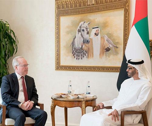 Abu Dhabi Crown Prince Receives Chairman of Raytheon Company