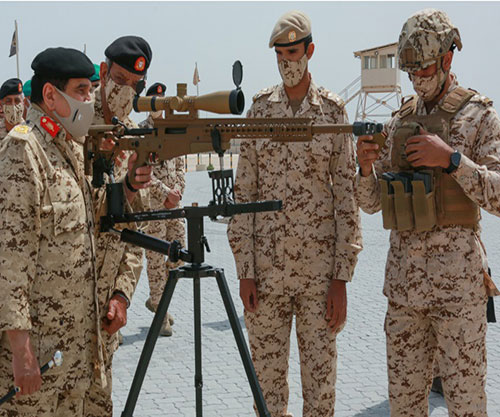 Bahrain's King Attends Royal Tanks' Shooting Exercise
