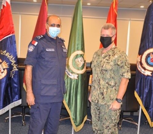 Bahrain's Coast Guard Commander Receives US 5th Fleet Commander