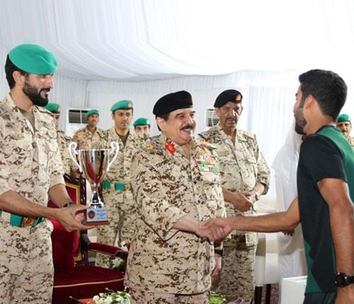 Bahrain's King Visits Royal Guards Force