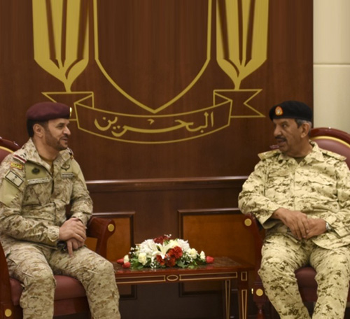 Bahrain Defense Chief Receives Saudi Military Delegation