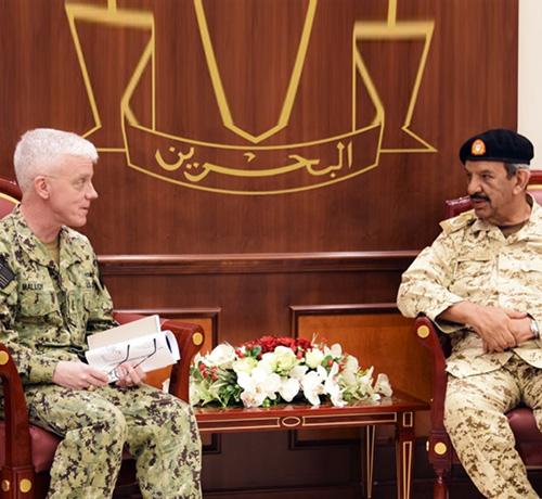 Bahrain Defense Chief Receives US 5th Fleet Commander