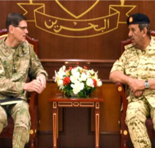 Bahrain Defense Chief Receives US CENTCOM Commander