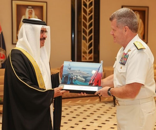 Bahrain's Interior Minister Receives Outgoing 5th Fleet Commander