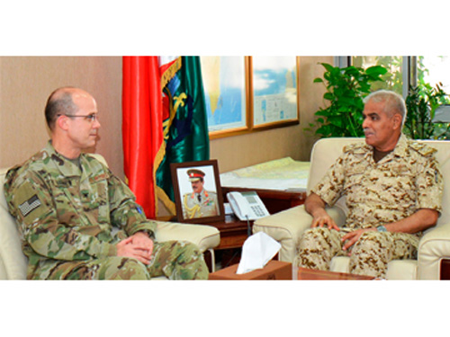 Bahrain's Chief-of-Staff Receives US Military Attaché