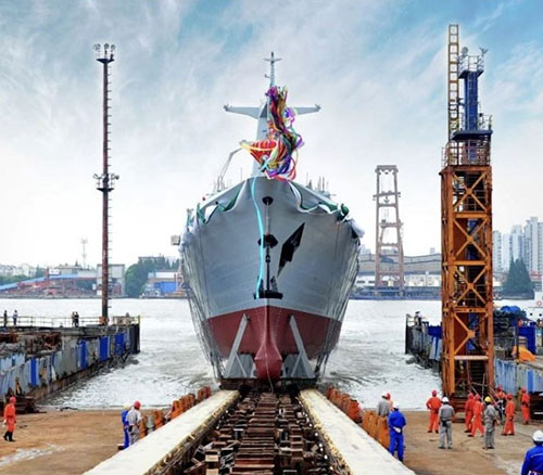China Launches First Type 054 A/P Frigate for Pakistan Navy