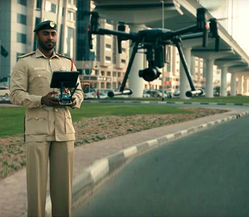 Dubai Police Use Drones to Boost Coronavirus Precautionary Measures