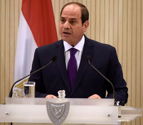 Egyptian President Receives Greek Defense Minister; Visits France
