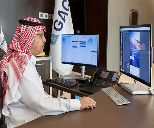 GACA's President Inaugurates Electronic Portal to Serve Passengers