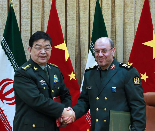 Iran, China Sign Defense-Military Agreement