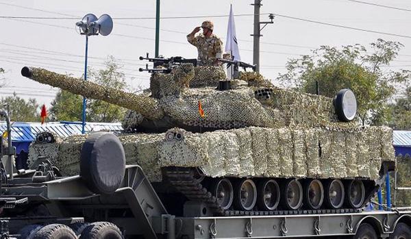 Iranian-made Zolfaqar 3 Main Battle Tank at military parade in Tehran