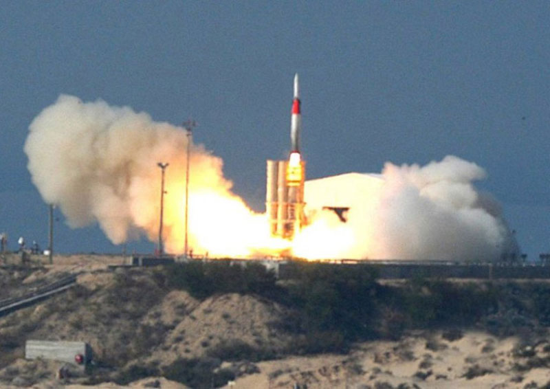 Israel Tests Arrow 3 Missile Defense System