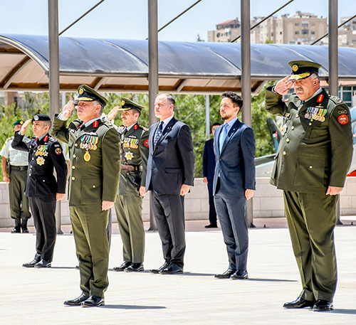 Jordanian King Attends Armed Forces Ceremony