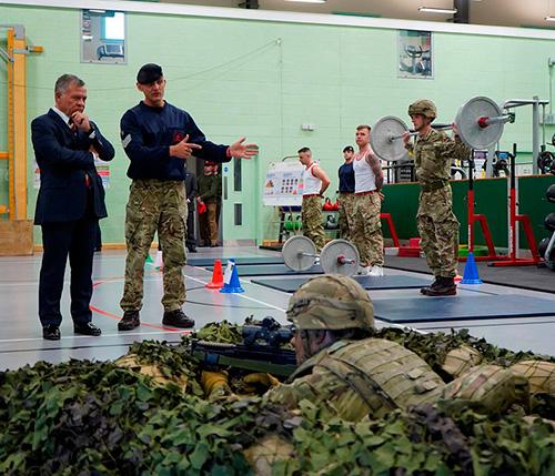 Jordanian King Attends Military Program at British Battalion