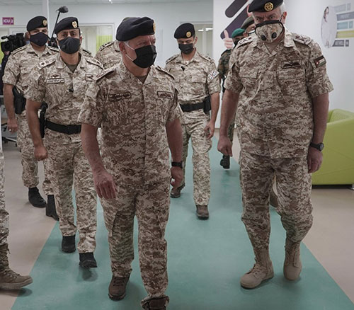 Jordanian King Inaugurates 300-Bed Military Field Hospital for COVID Patients