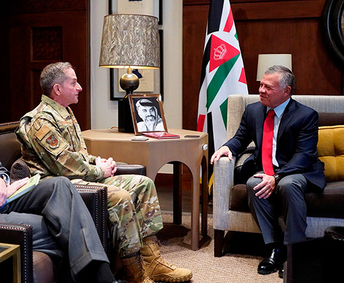 Jordanian King Receives US Air Force Chief-of-Staff
