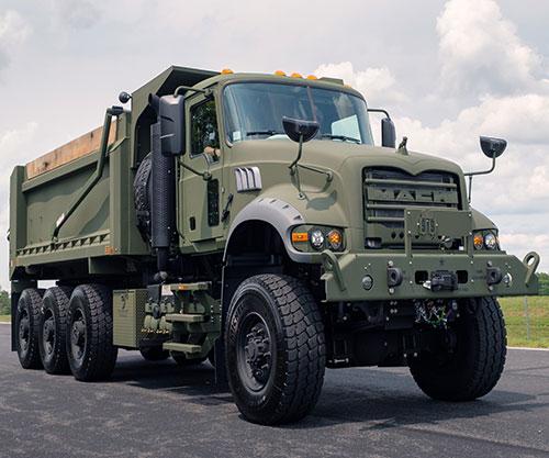 Mack Defense Presents First Production M917A3 Heavy Dump Trucks to U.S. Army