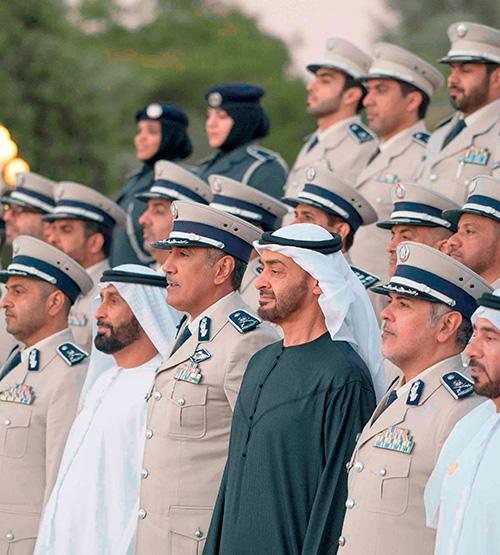 Mohamed bin Zayed Receives Abu Dhabi Police Delegation
