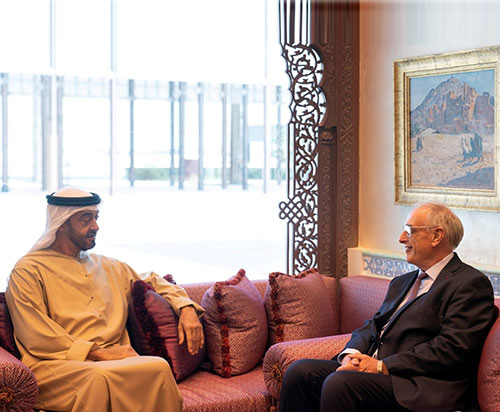 Mohamed bin Zayed Receives CEO of Naval Group