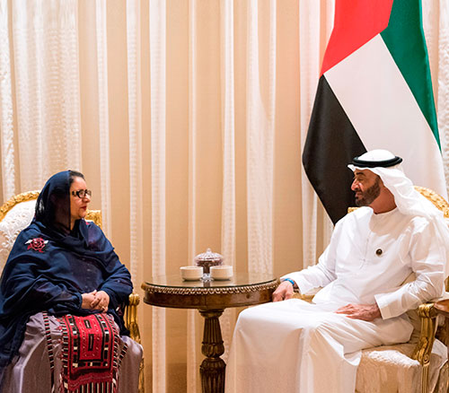 Pakistani Minister of Defense Production Visits UAE